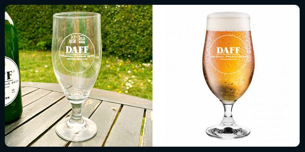 Bicchiere Daff Beer